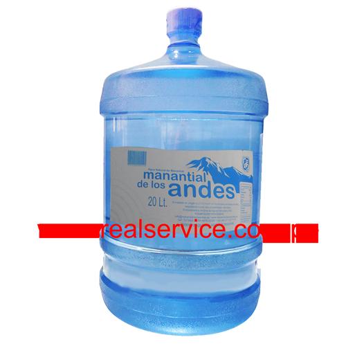 Lee más sobre el artículo Distribuidor de bidon de agua mineral Manantial de los Andes 20 lt.