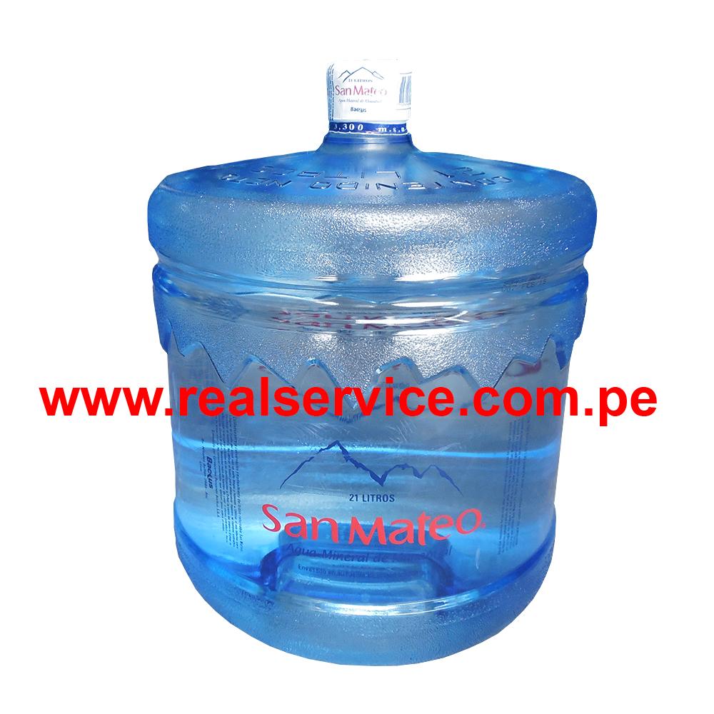 Lee más sobre el artículo Distribuidor de Bidon de Agua Mineral San Mateo 21 litros