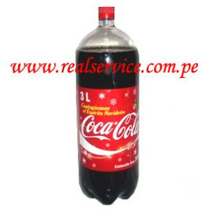gaseosa Coca Cola 3 litros descartable
