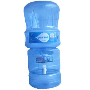 Surtidor rs transparente + envase+ Agua de mesa San Luis 20 litros