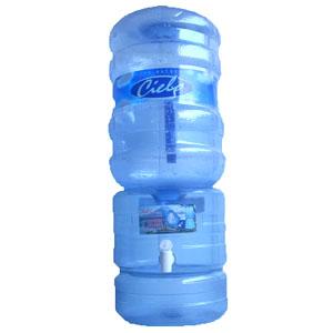 Surtidor rs transparente + envase + Agua de mesa Cielo 20 litros